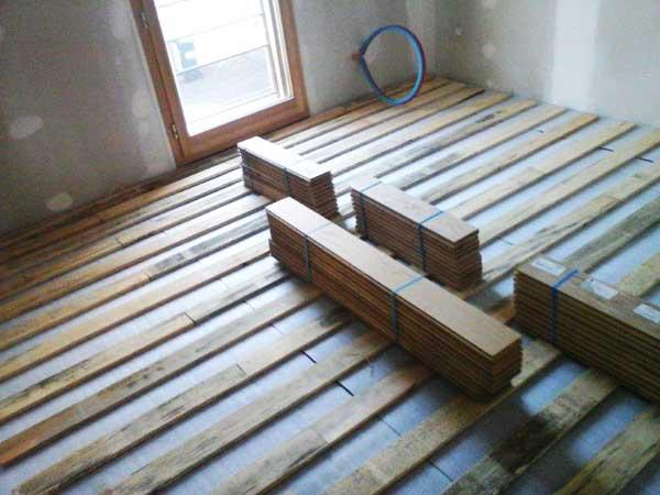 Instalación del piso flotante